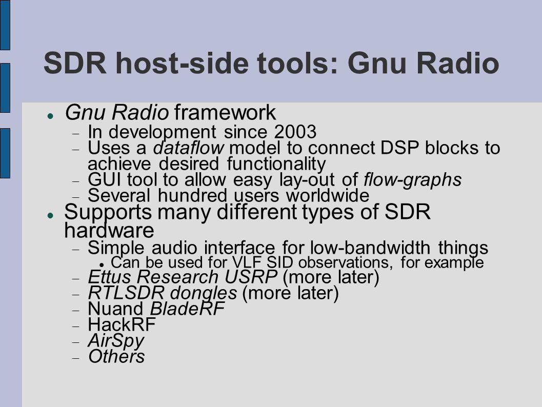 SDR host-side tools: Gnu Radio