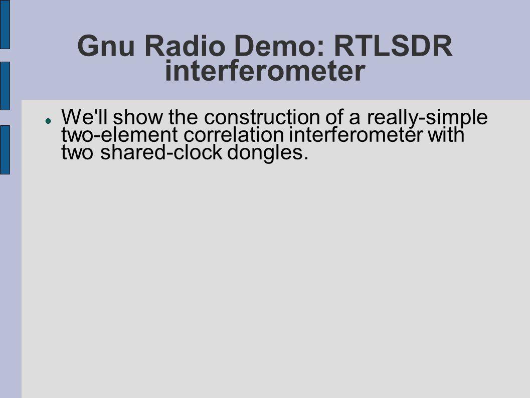 Gnu Radio Demo: RTLSDR interferometer