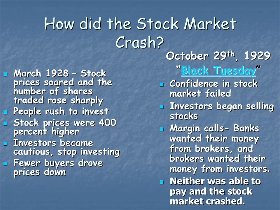 How did the Stock Market Crash