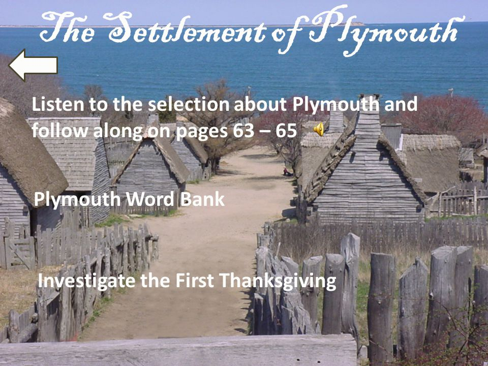 The Settlement of Plymouth