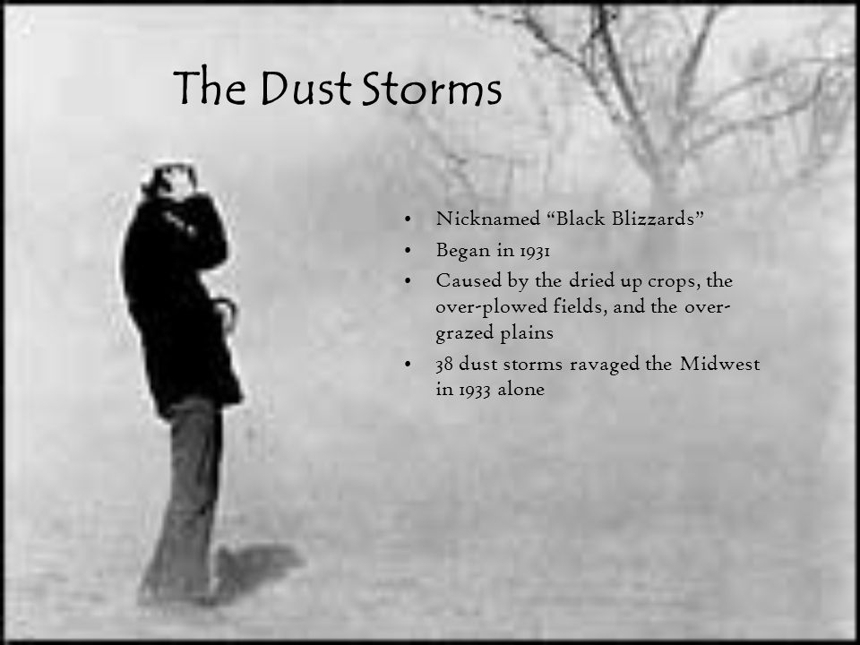 The Dust Storms Nicknamed Black Blizzards Began in 1931