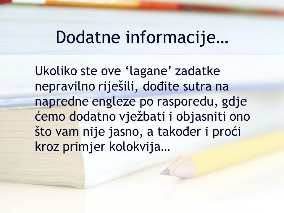 Dodatne informacije…
