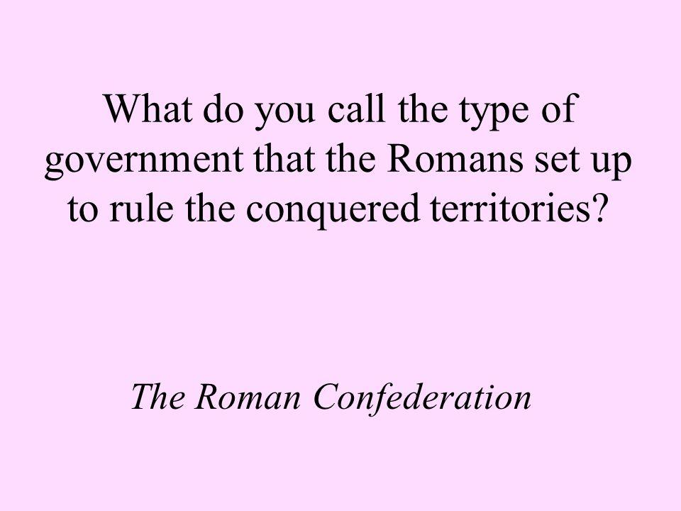 The Roman Confederation