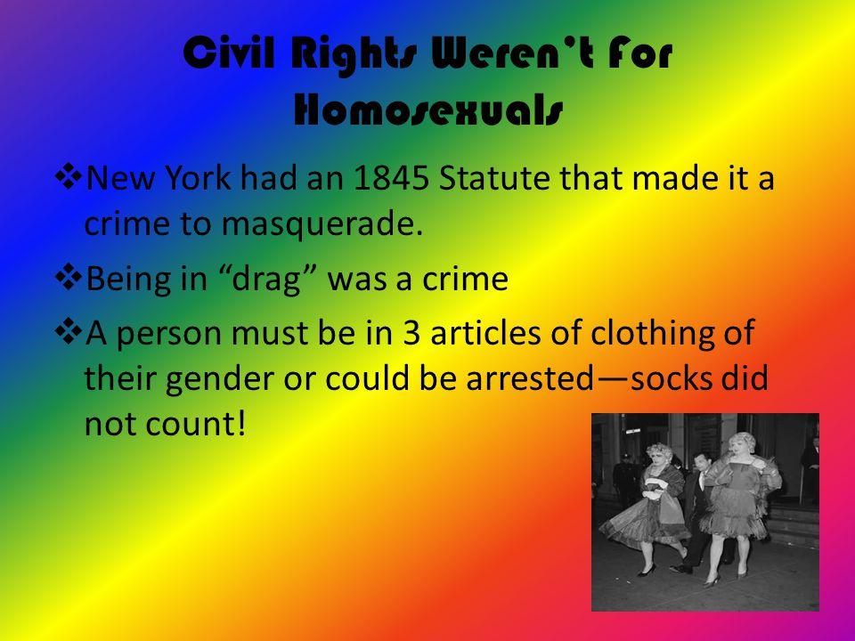 Civil Rights Weren't For Homosexuals