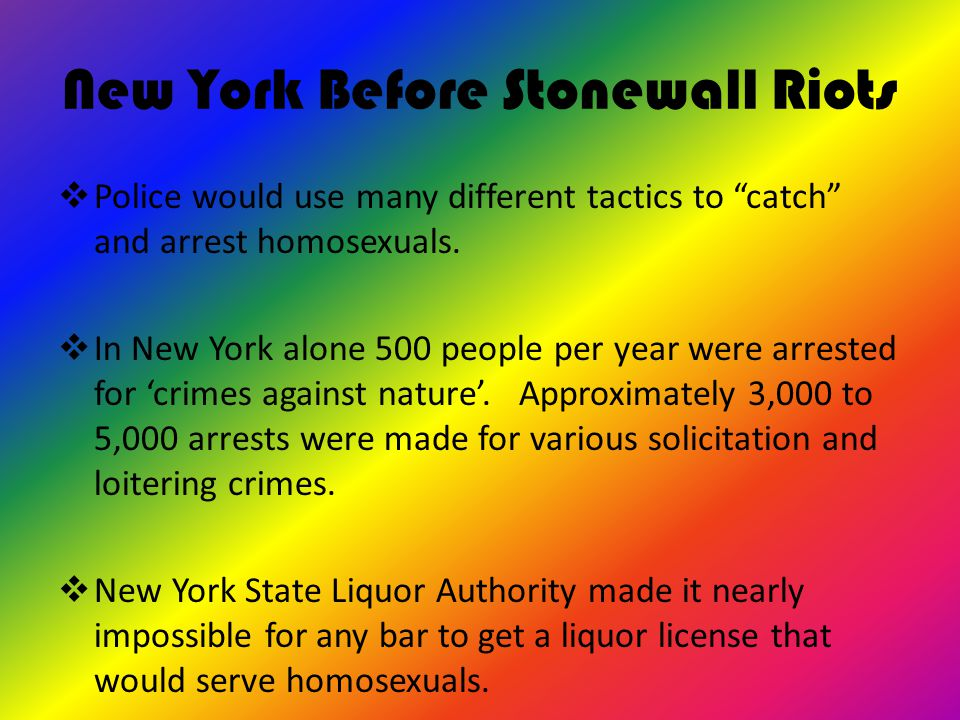 New York Before Stonewall Riots