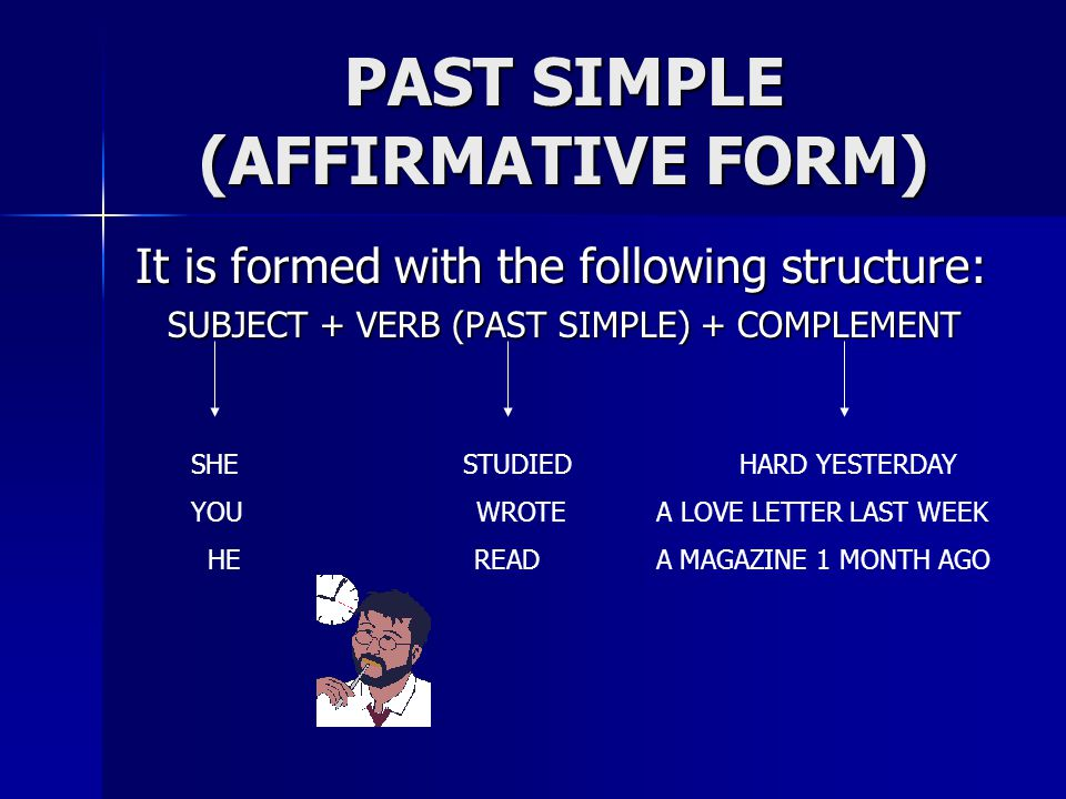 PAST SIMPLE (AFFIRMATIVE FORM)