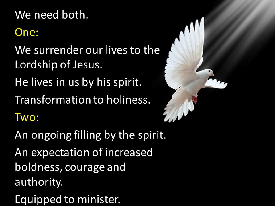 We need both. One: We surrender our lives to the Lordship of Jesus