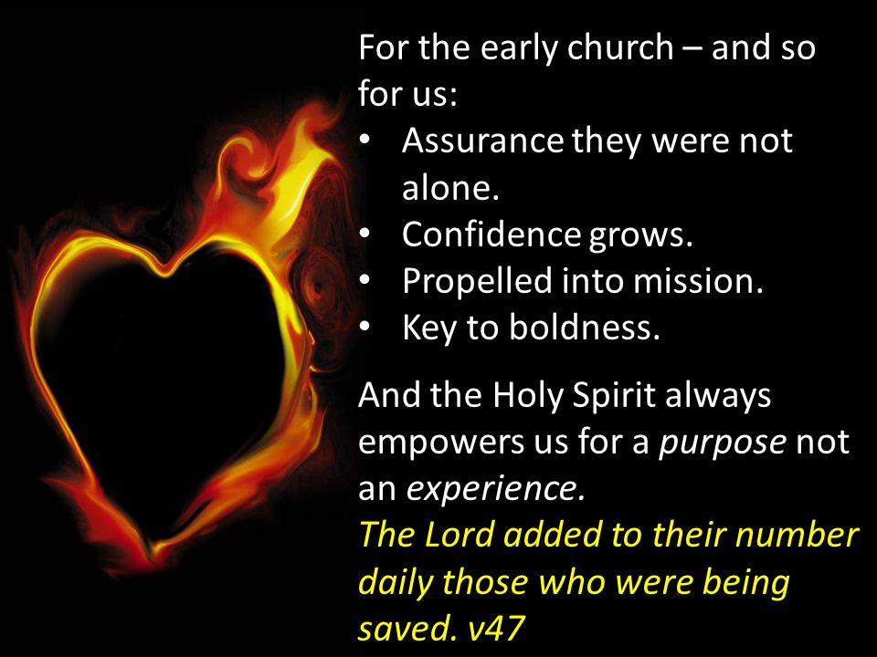 For the early church – and so for us:
