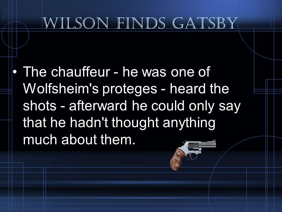 Wilson Finds Gatsby