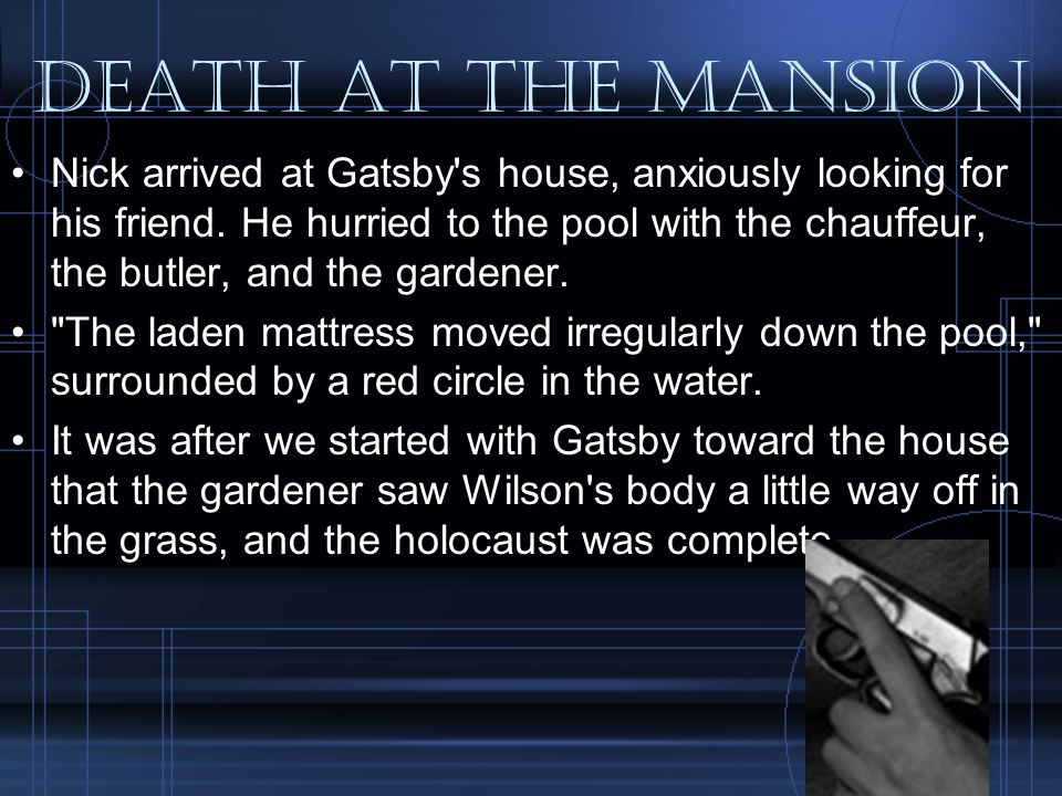 Death at the mansion