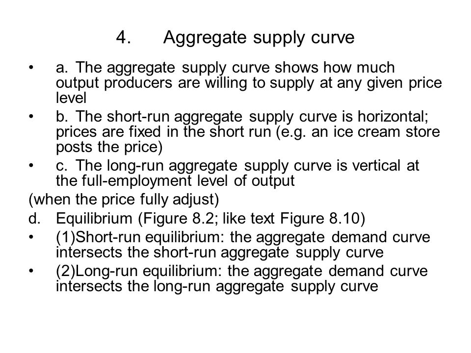 4. Aggregate supply curve