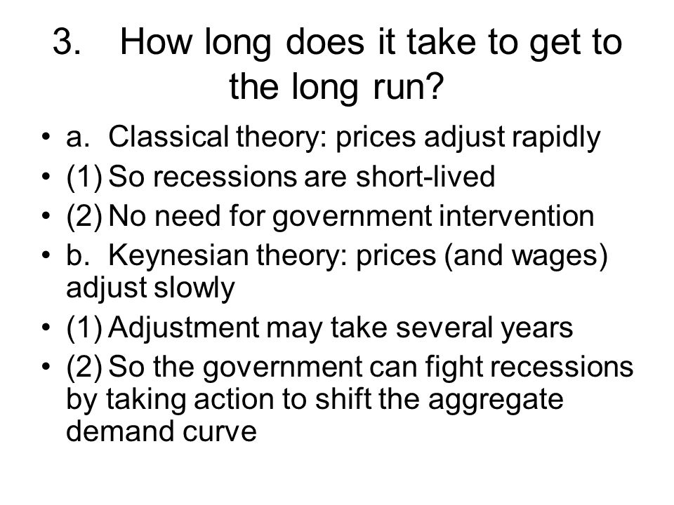 3. How long does it take to get to the long run