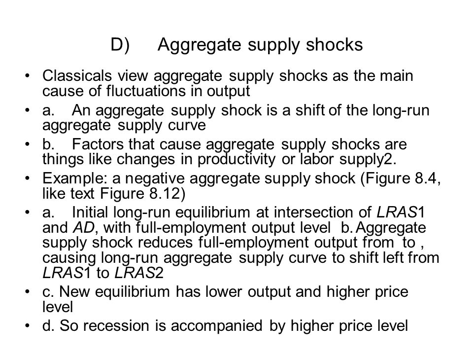 D) Aggregate supply shocks