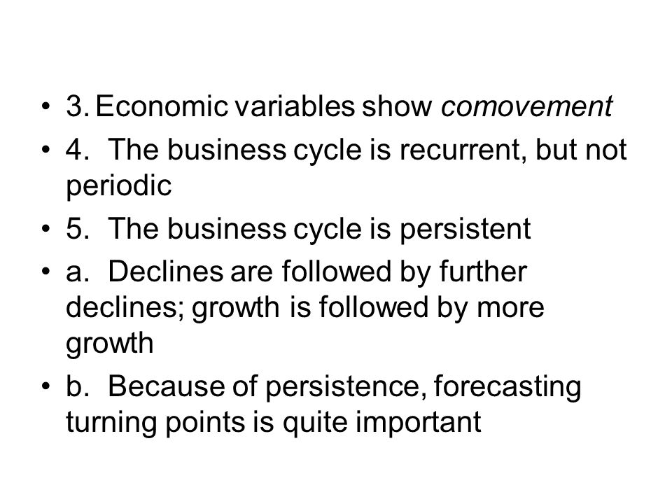 3. Economic variables show comovement