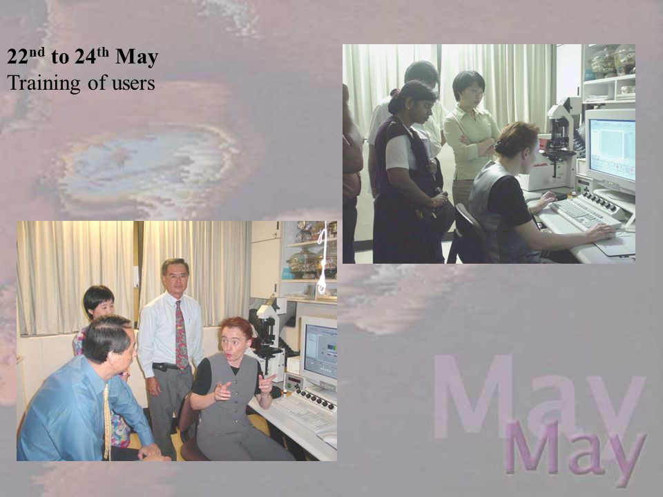 22nd to 24th May Training of users
