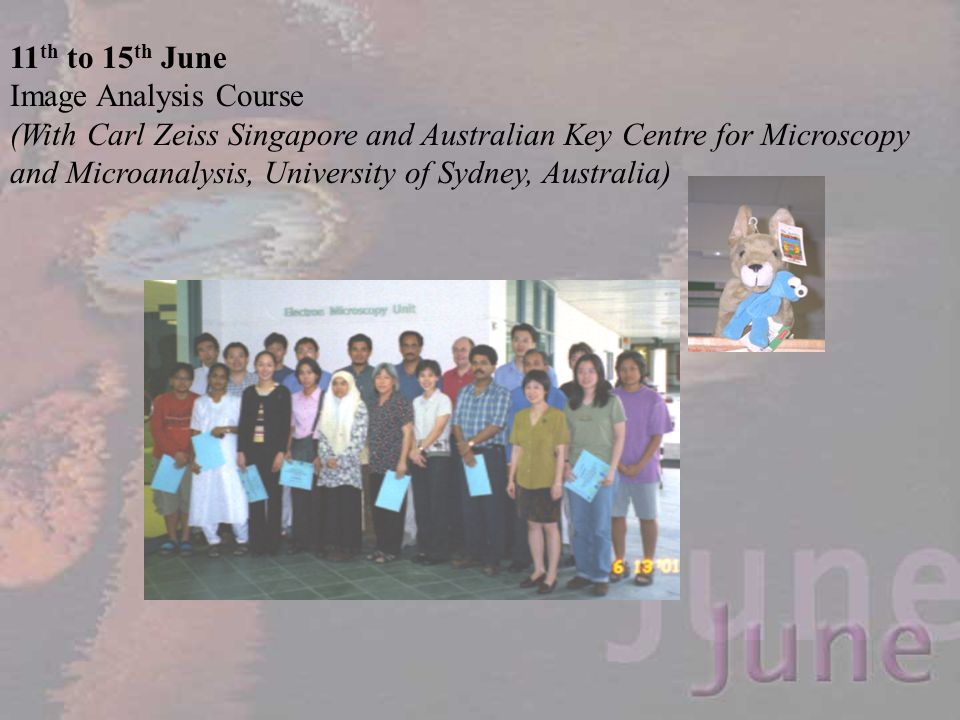 11th to 15th June Image Analysis Course.