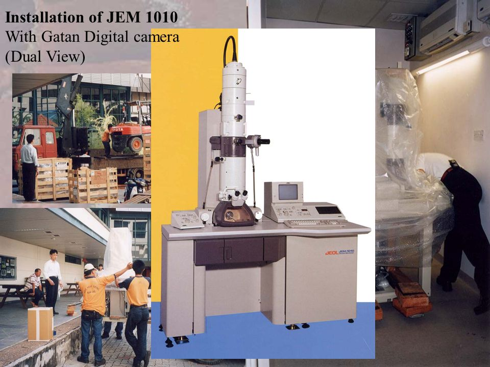 Installation of JEM 1010 With Gatan Digital camera (Dual View)