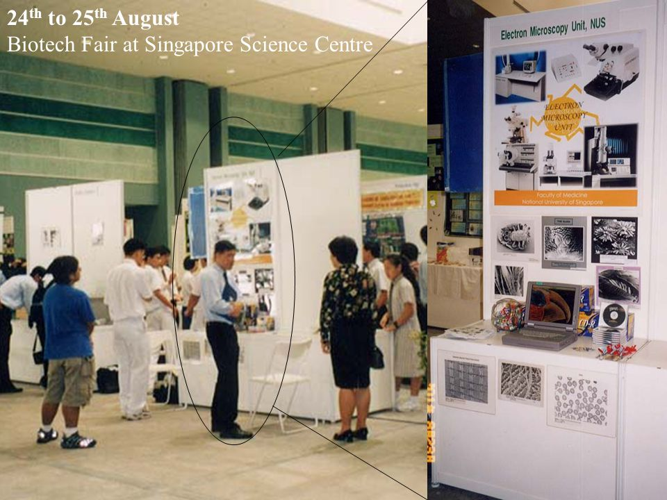 24th to 25th August Biotech Fair at Singapore Science Centre