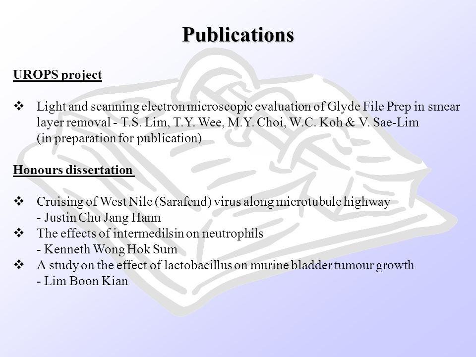 Publications UROPS project
