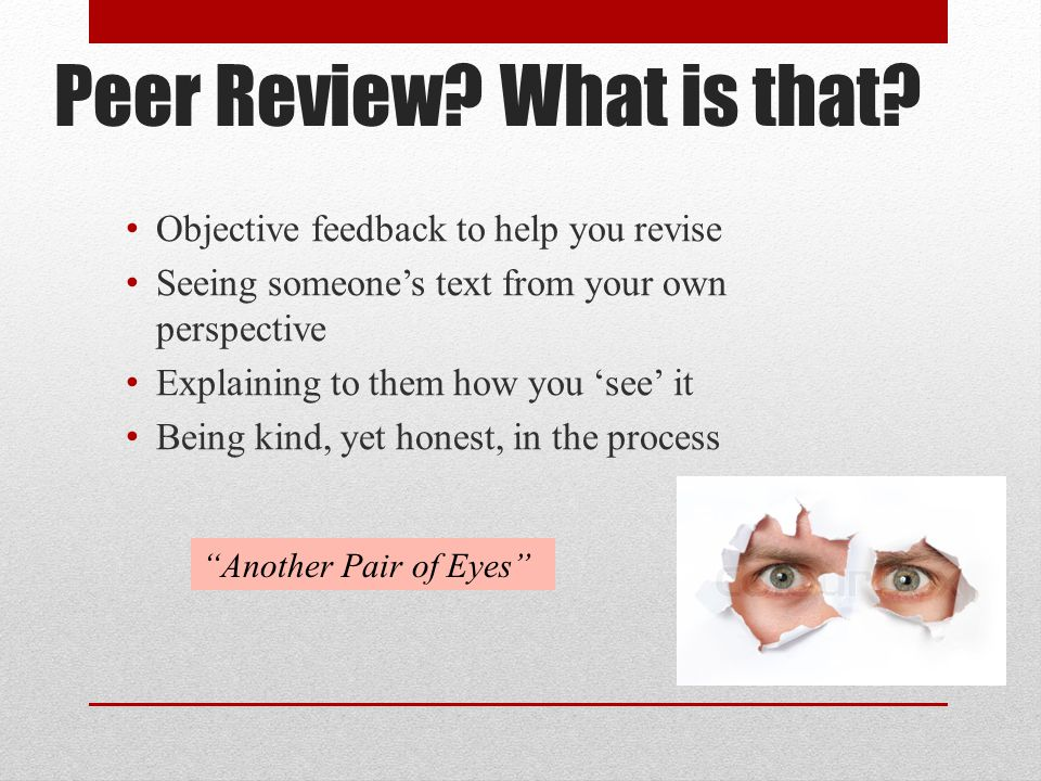 Peer Review What is that