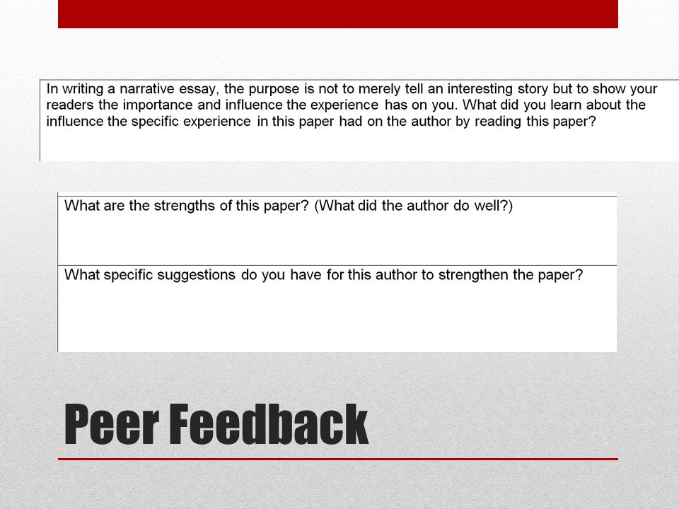 peer feedback thesis