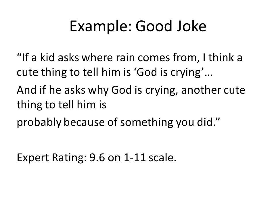 Example: Good Joke