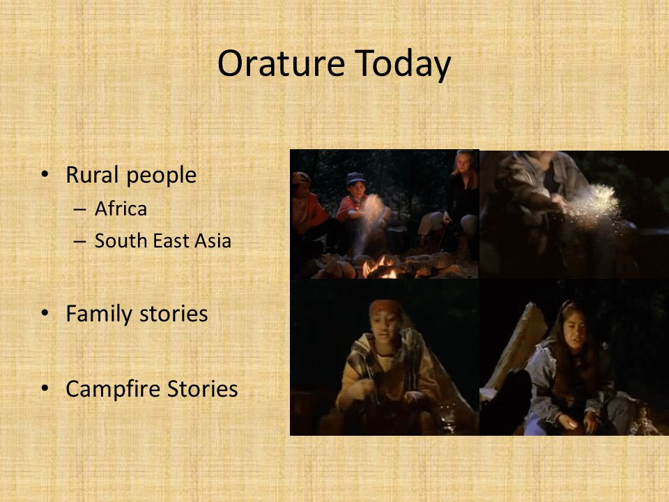 Orature Today Rural people Family stories Campfire Stories Africa