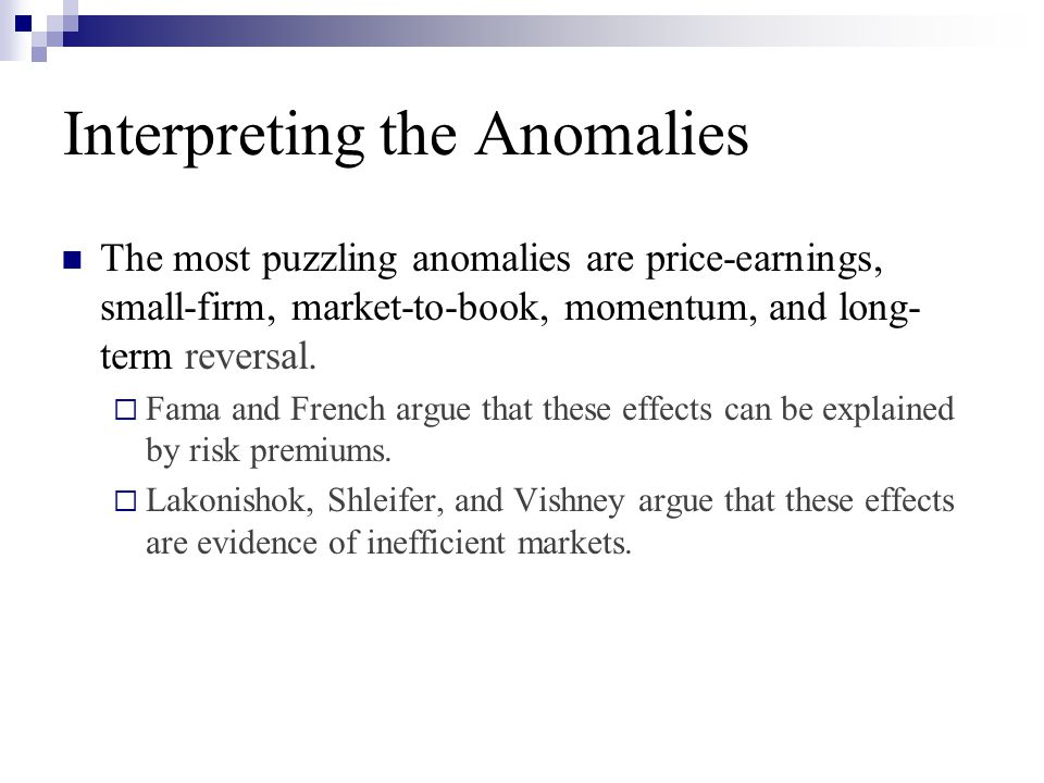 Interpreting the Anomalies