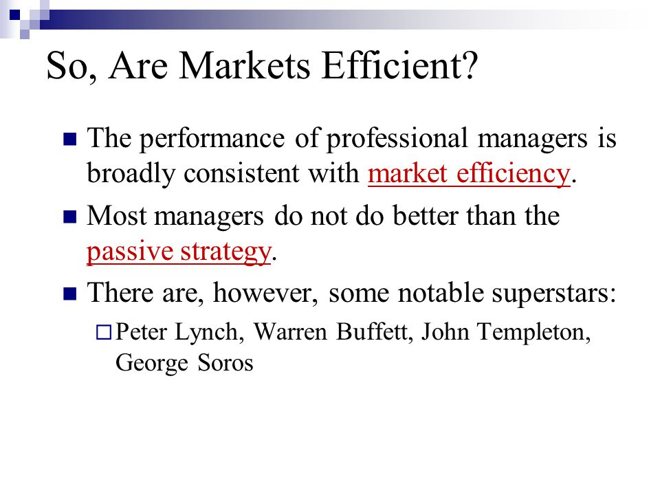 So, Are Markets Efficient