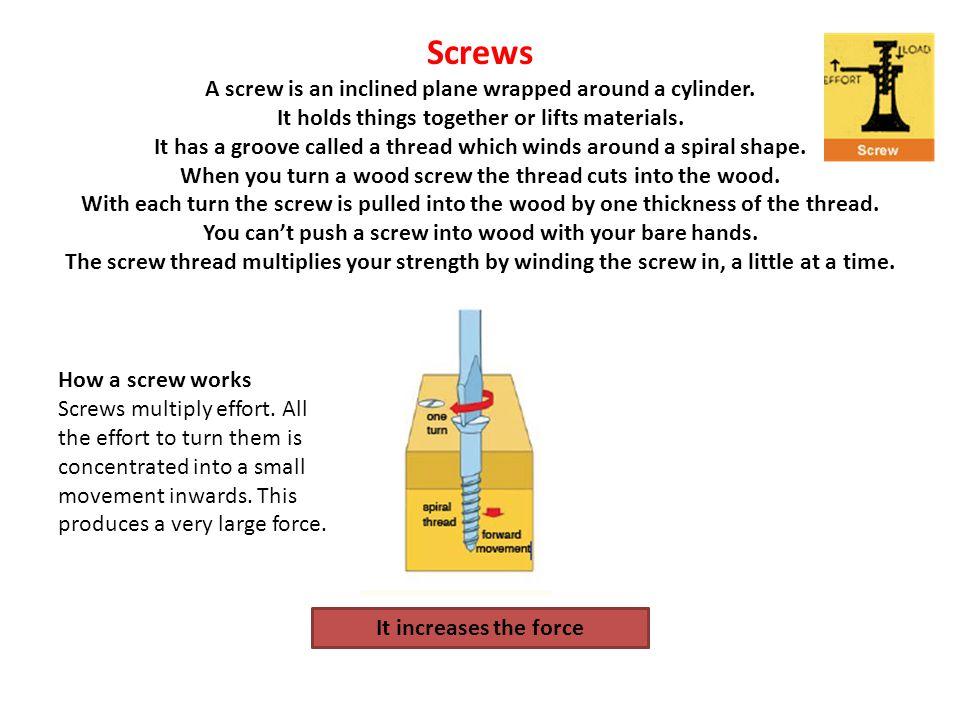 How is a screw like a wedge