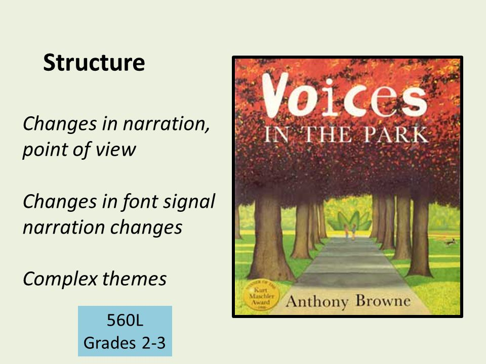 Structure Changes in narration, point of view