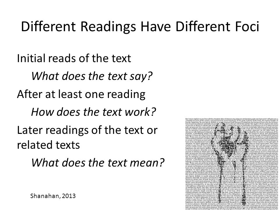 Different Readings Have Different Foci
