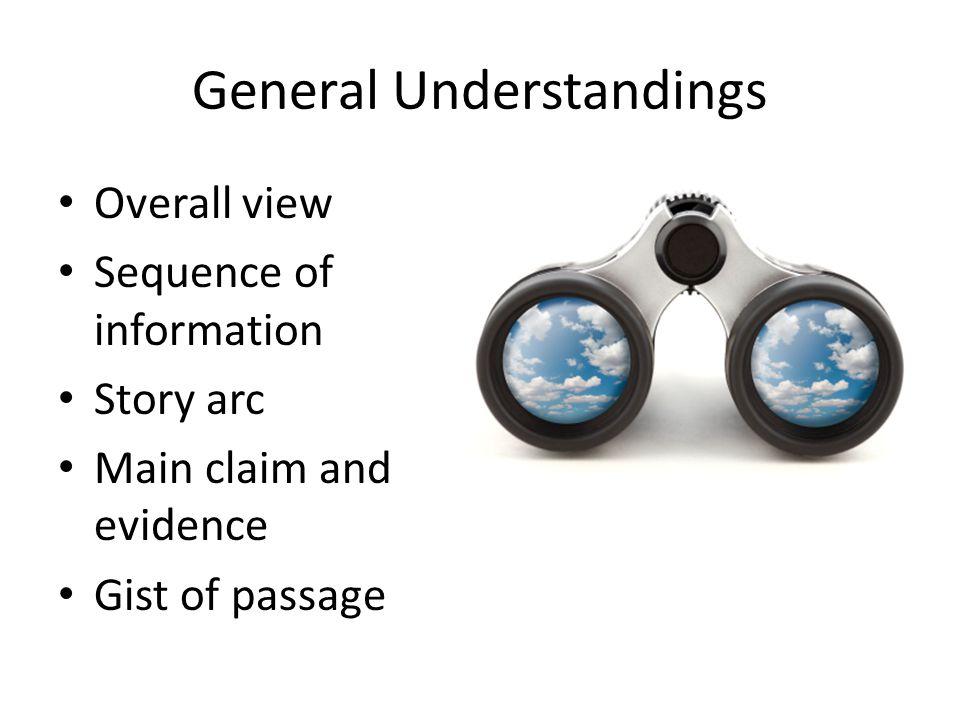 General Understandings