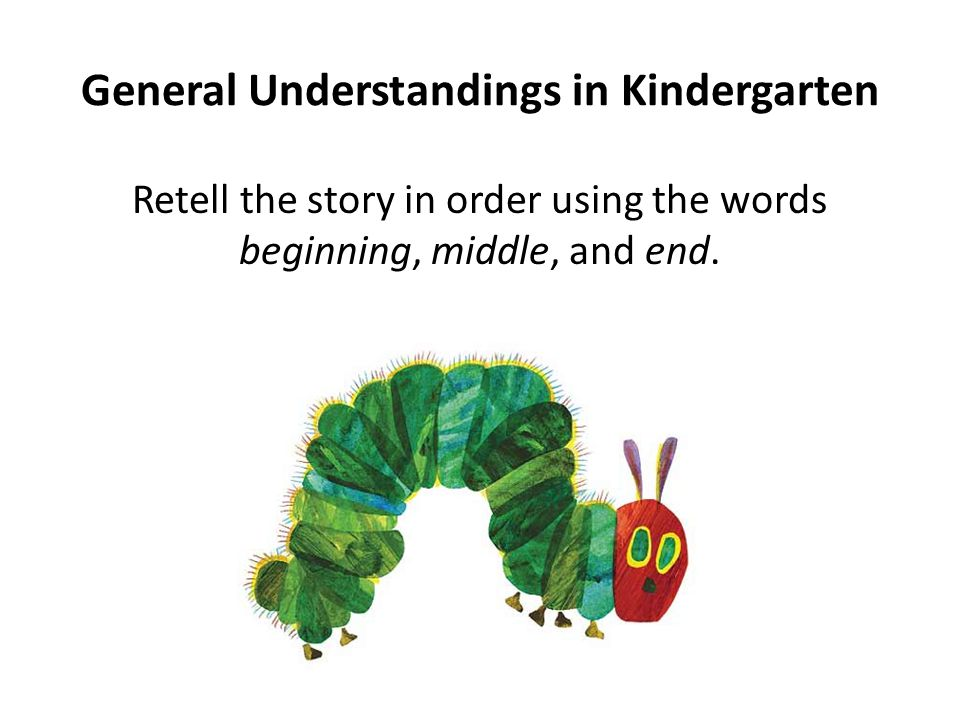 General Understandings in Kindergarten