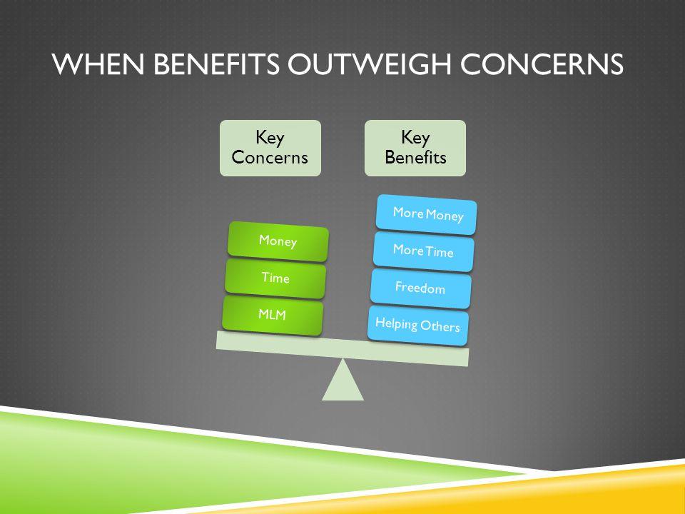 When Benefits outweigh concerns