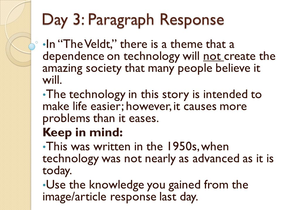 the veldt written by ray bradbury ppt video online  15 day