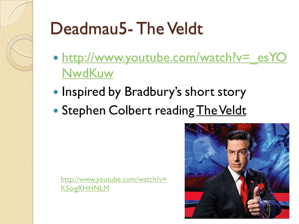 the veldt by ray bradbury literary criticism Welcome to /r/literature, a community for deeper discussions of plays, poetry, short stories, and novelsdiscussions of literary criticism, literary history, literary theory, and critical theory are also welcome--strongly encouraged, even.