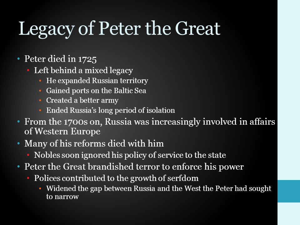 Legacy of Peter the Great