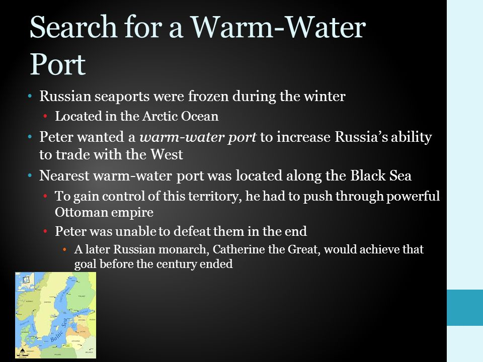 Search for a Warm-Water Port
