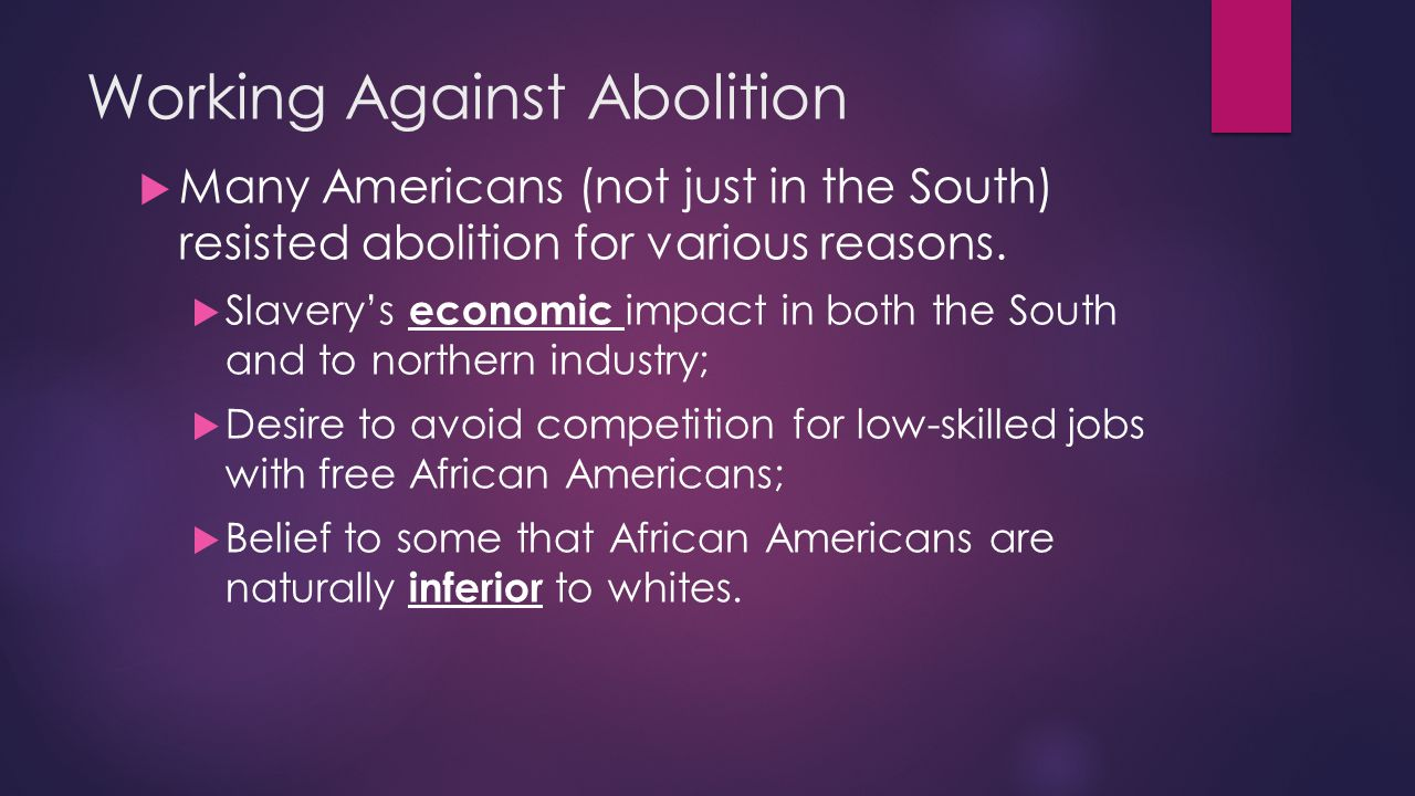 Working Against Abolition