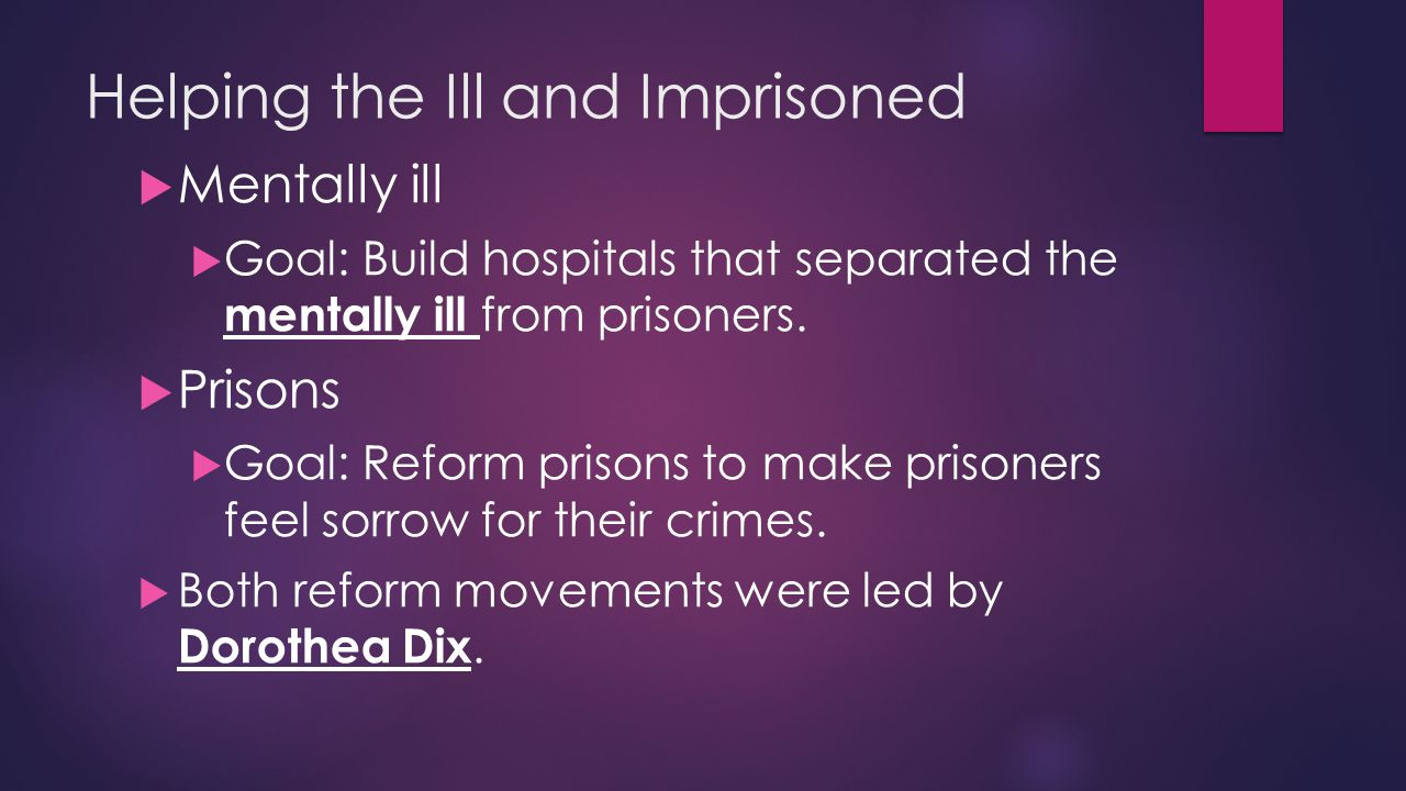 Helping the Ill and Imprisoned