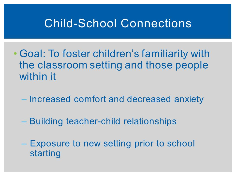 Child-School Connections