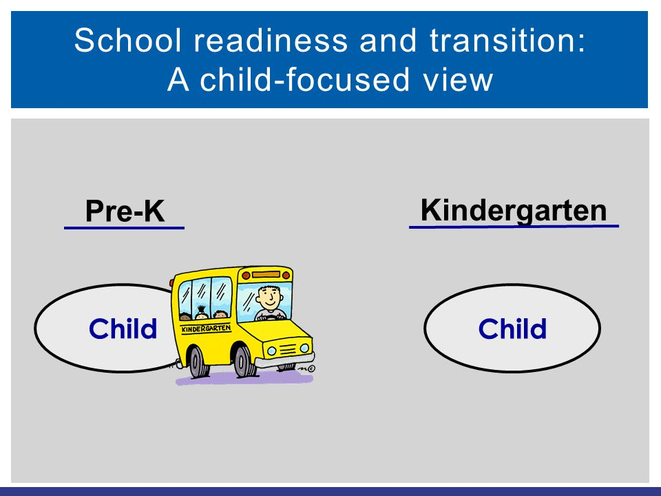 School readiness and transition: A child-focused view