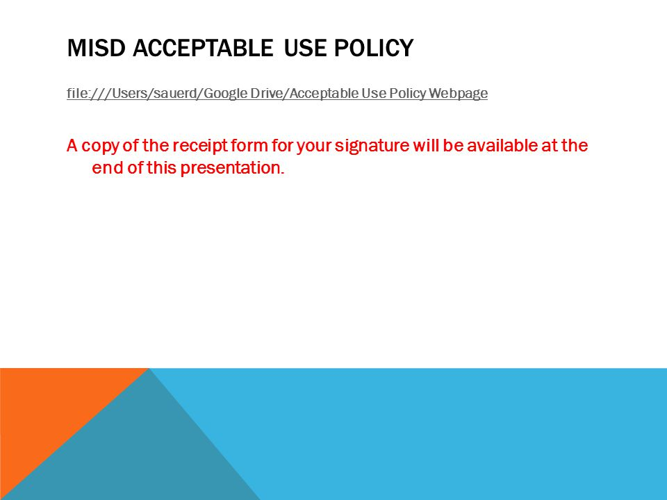 MISD Acceptable Use policy