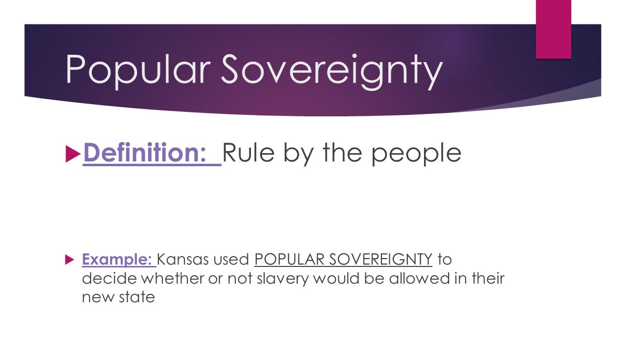 Popular Sovereignty Definition: Rule by the people