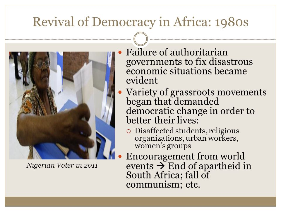 Revival of Democracy in Africa: 1980s