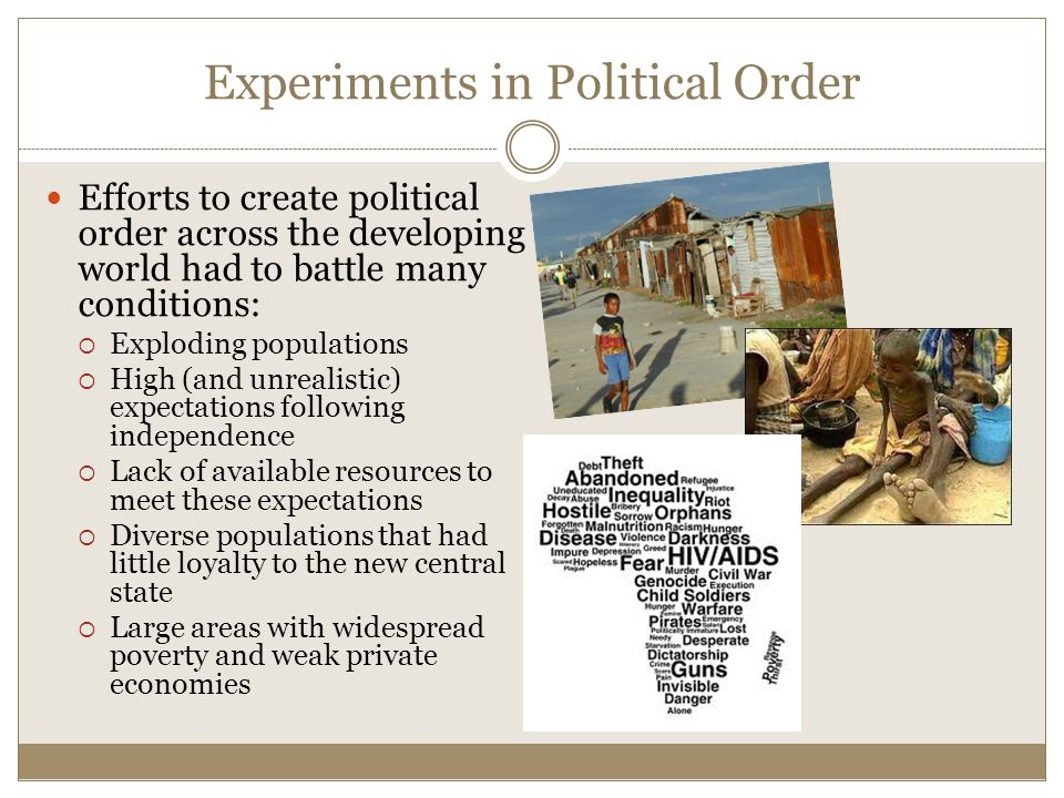 Experiments in Political Order