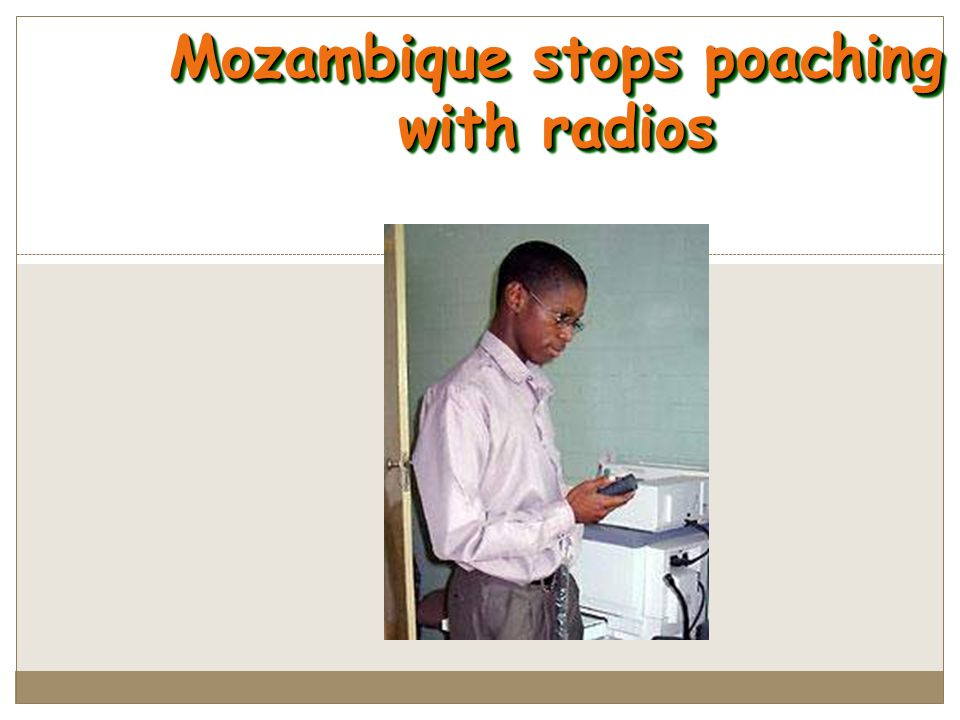 Mozambique stops poaching with radios