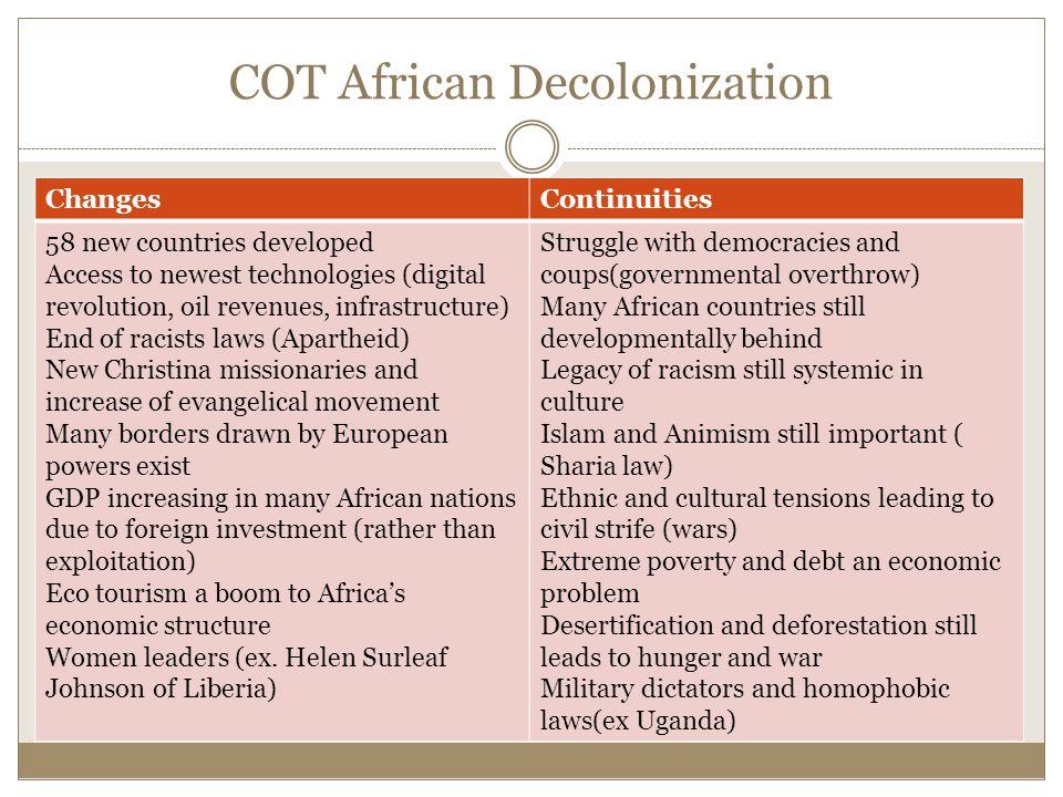 COT African Decolonization