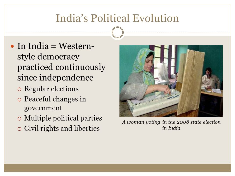 India's Political Evolution